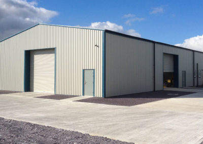Steel framed office and storage building