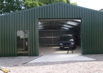 Steel building for car repairs