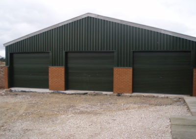 Large industrial storage building