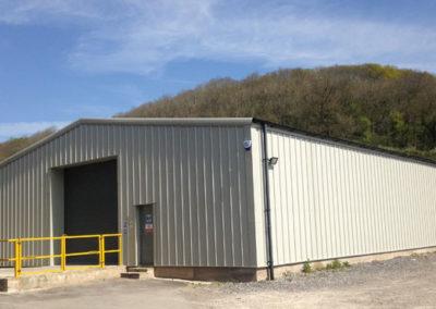 Warehousing steel framed building