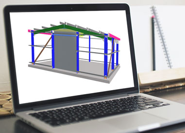 steel building design online