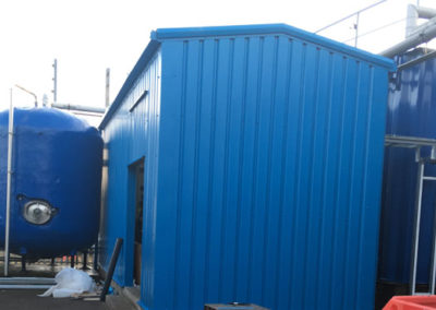 Small industrial storage building