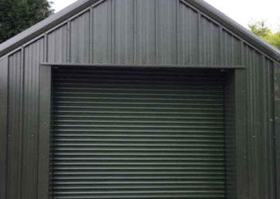 Domestic steel garage
