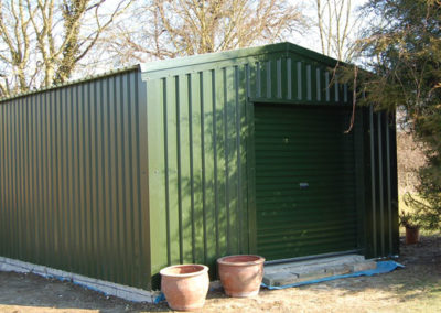 Domestic steel storage building