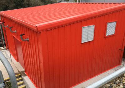 Open front storage building