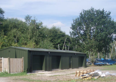 Storage building for sailing club
